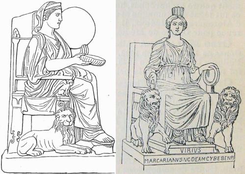 Grecka boginia Reja i rzymska Cybele