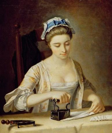 Henry Robert Morland (British Painter, 1716-1797)  Woman Ironing