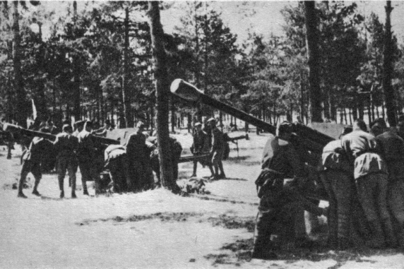 Ćwiczenie Artylerie Sielce 1943