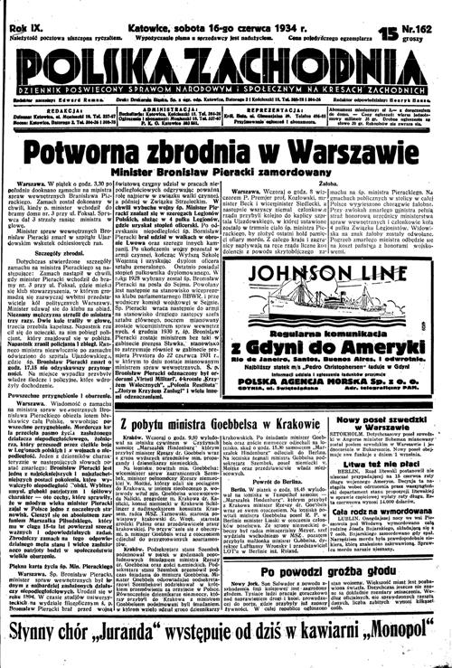 polska zachodnia zamach pieracki