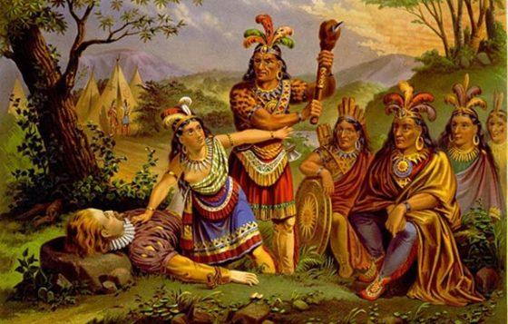 Pocahontas_ratuje_Johna_Smitha