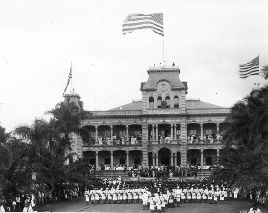 12 sierpnia 1898 r. - oficjalnie uroczystości aneksji Hawajów 1