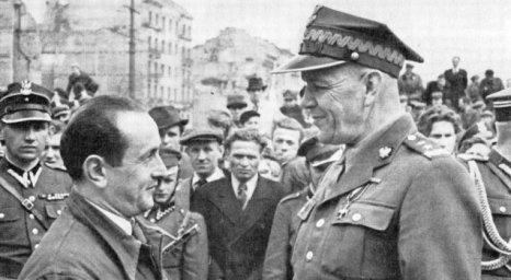 Gen. Berling wraz z mieszkańcami Pragi