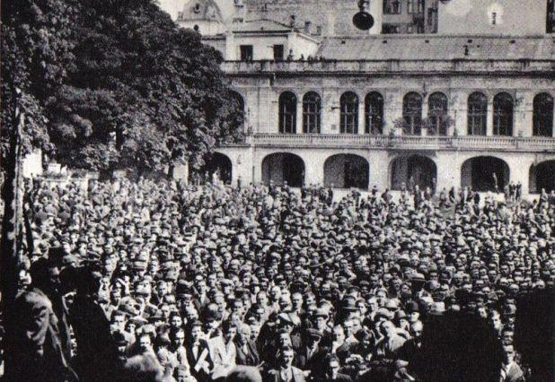 15 września 1930 r. Wiec Centrolewu w warszawskiej Dolinie Szwajcarskiej