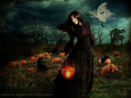 Czarownica z latarnią i kotem autorka Wiccancountess.jpg