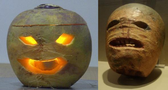 Jack-o'-lantern wydrążony z brukw i rzepy.png