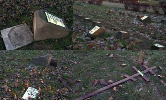 profanacja grobów żołnierzy radzieckich w Garwolinie