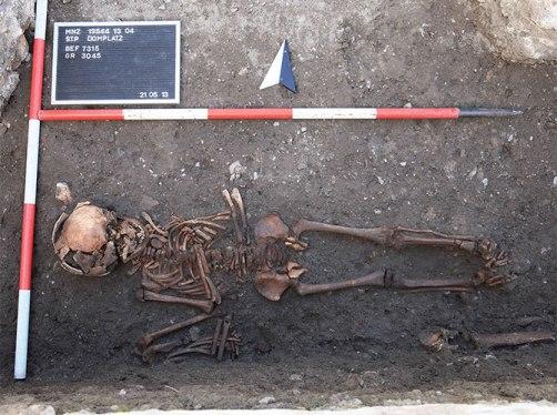 szkielet austria kiła XIV w.