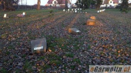 zdemolowany cmentarz w garwolinie