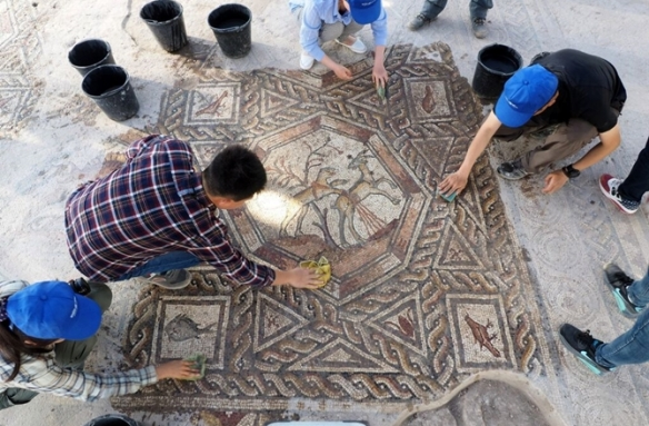 znaleziona mozaika w Izraelu sprzed 1700 lat