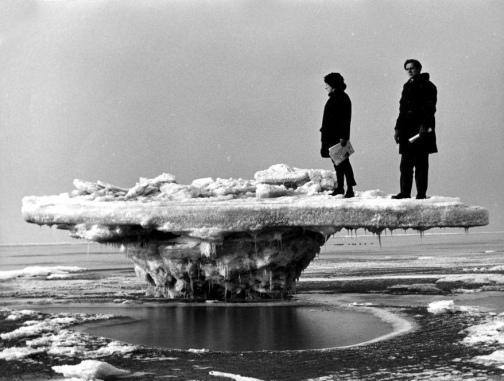 1963 r. Holandia Rockanje lodowy stol