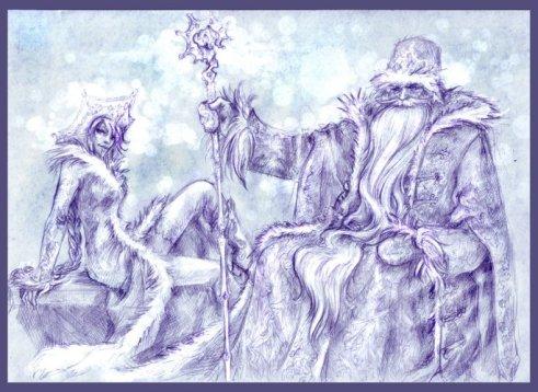Śnieżynka i Dziadek Mróz 2 by MammonnA