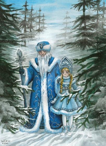 Dziadek Mróz ze Śnieżynką by AmedamaCherry