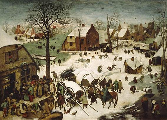 Peter Bruegel obraz Betlejem 1566