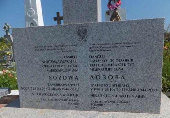 pomnik zbrodnii w Łozowej