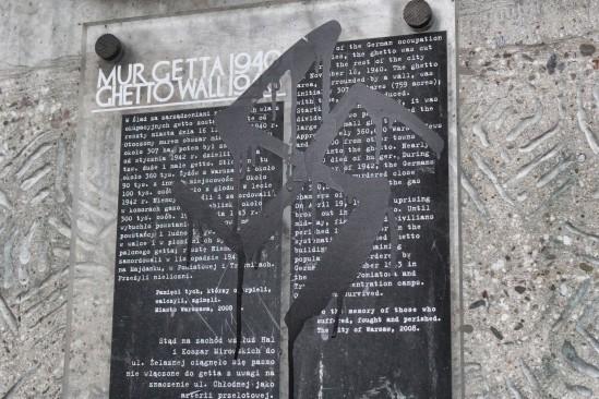 swastyka na tablicy getta warszawskiego wawa.love.pl