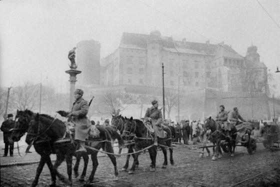 Styczeń 1945 Kraków Armia Czerwona pod Wawelem