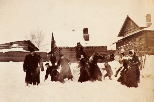 Wojna na sniezki w Rosji 1900