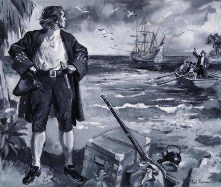 Alexander Selkirk pozostawiony na wyspie