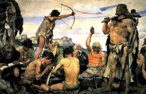 obraz Epoka Kamienia Wazniecow