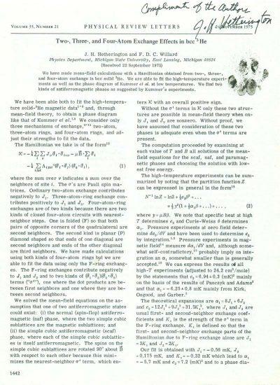 praca naukowa Hetherington Chester Willard