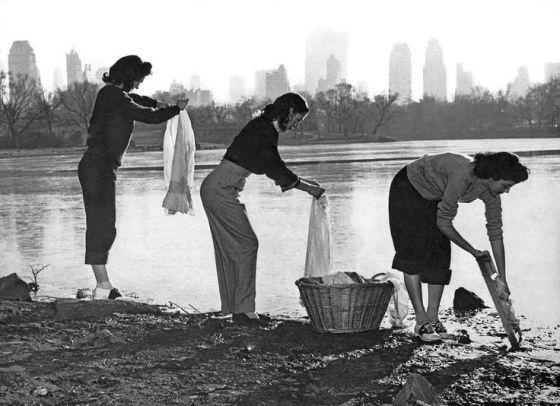 kobiety pranie nowy jork 1949