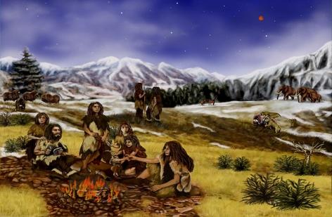 neandertalczycy ogien