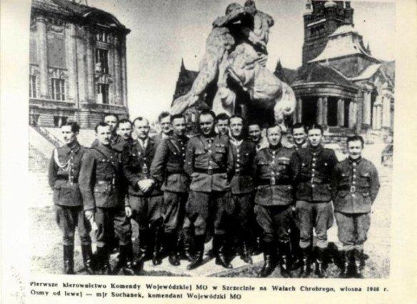 1946-wiosna-komenda-MO-Sczecin
