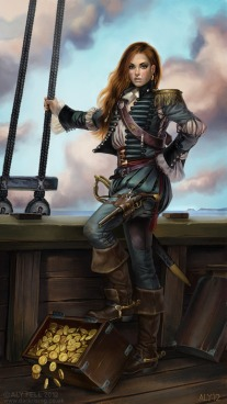 Gráinne_Ní_Mháille_2d_character_girl_woman_portrait_pirate_treasure_picture_image_digital_art