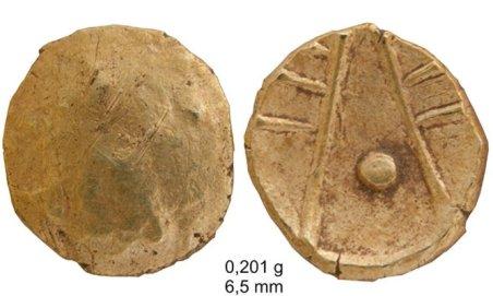 moneta celtycka z okolicy kalisza