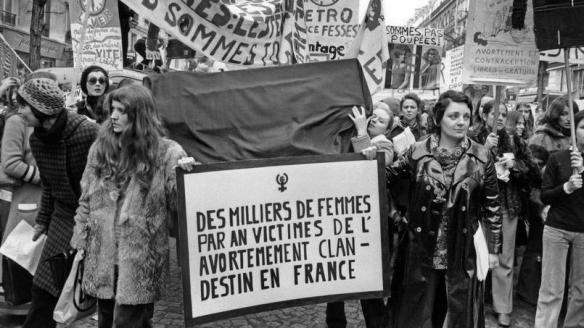 protest feministek przeciw zakazowi aborcji 1971