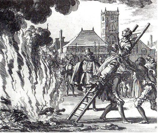 Spalenie na stosie XVI wiek