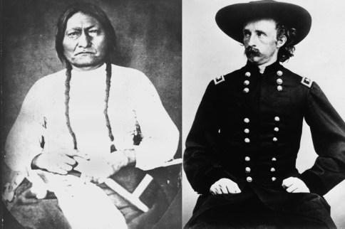 Siedzacy Byk i George Custer