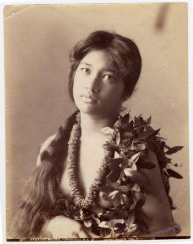 Hawajska dziewczyna koniec XIX wieku