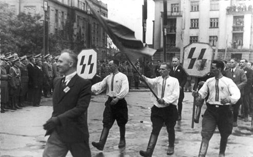 Parada SS Gazlizien Lwow 1943