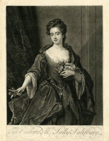 Portet Sally Salisbury autor John Smith  1720-1725 zbiory British Museum