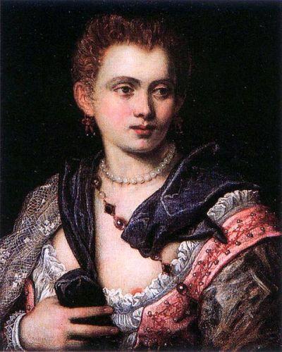 Portret Veroniki Franco autor Jacopo Tintoretto 1575