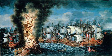 Slaget_vid_Öland_Claus_Møinichen_1676