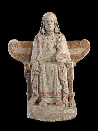 Dama z Bazy sztuka iberyjska, IV wiek p.n.e 3
