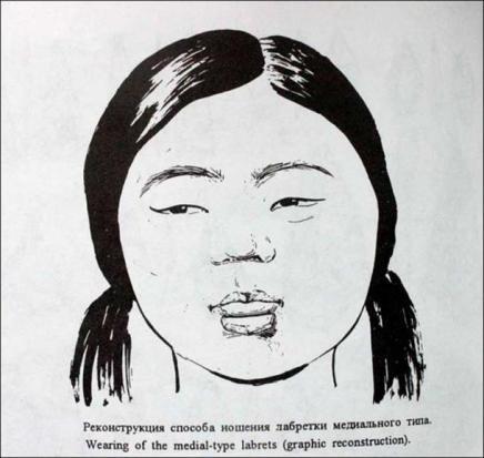 dziewczyna nosząca labretę Syberia