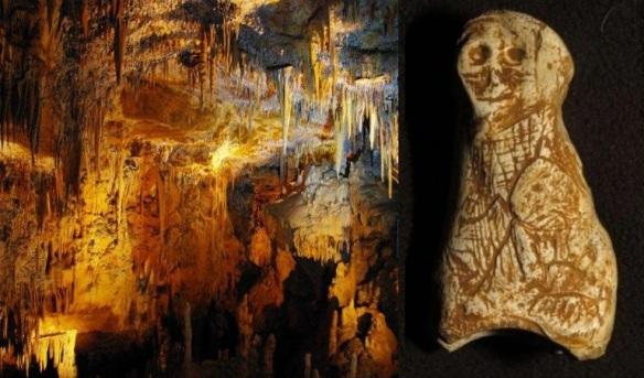 figurka neolityczna kobiety z jaskinii Foissac
