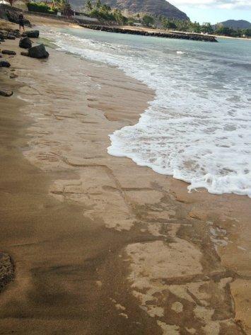 hawaje petroglify Oahu Waianae 4