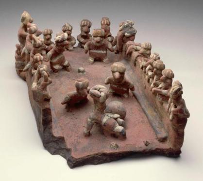 Jedno-z-najstarszych-przedstawień meczu-Kultura Nayarit-200 p.n.e. - 500 n.e. Meksyk