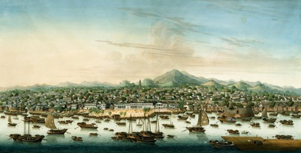 Kanton miasto portowe  i głowna kwatera piracka Wikimedia Commons