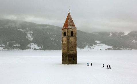 Kościół św. Katarzyny w Rechsen Zima