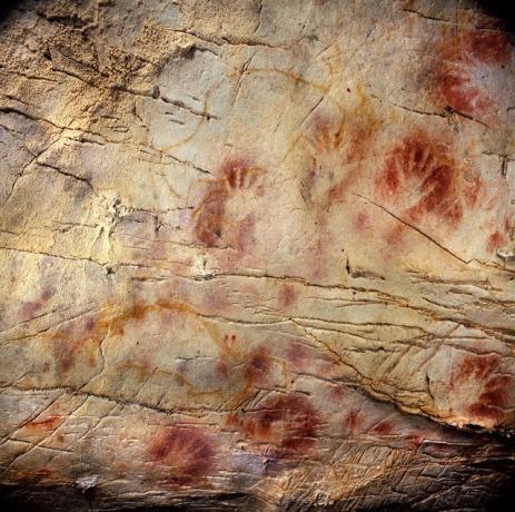 Malowidła z jaskini El Castillo Fot. Pedro Saura