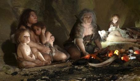 Rodzina neandertalska. Wystwa w Muzem neaadertalskim w Krapinie w Chorwacji fot. Nikola Solić Reuter Corbis