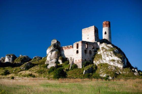 old castle ruins in Olsztyn, Czestochowa, Poland