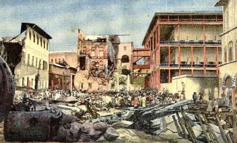 Zniszczony palac w Zanzibarze