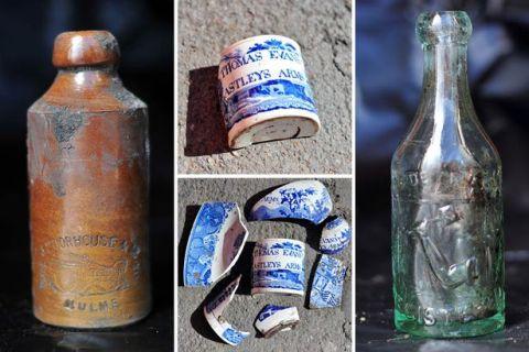 fragmenty-naczyn-ceramicznych-i-butelki-po-alkoholach